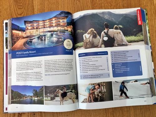 Präsentation von Hotels im gedruckten Kinderhotelführer