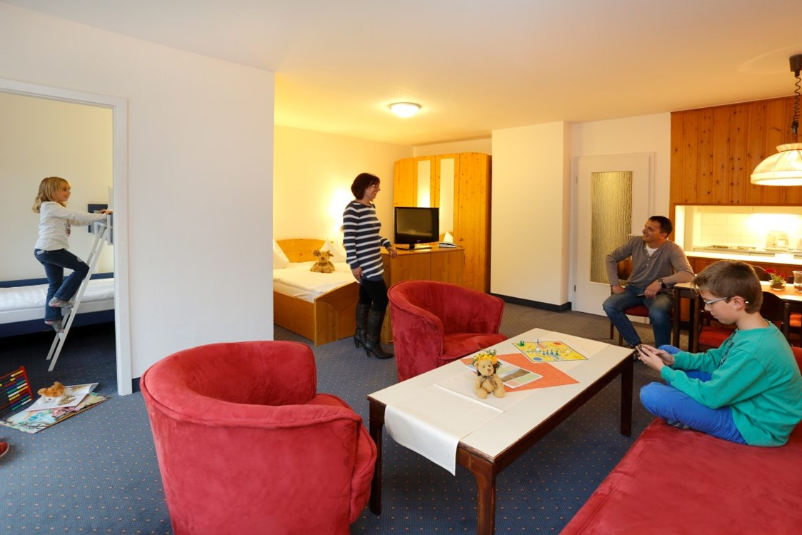 Kinderhotel: Comfort Apartment Typ B - totale Ansicht - Panoramic Hotel - Ihr Apartmenthotel