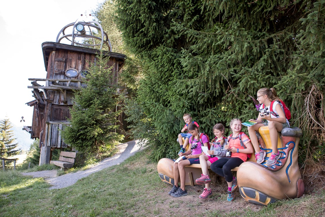 Kinderhotel: der Forscherpfad in Ladis - Kinderhotel Laderhof