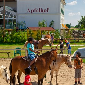 Kinderhotel: Reiten in der Pension Apfelhof - Pension Apfelhof